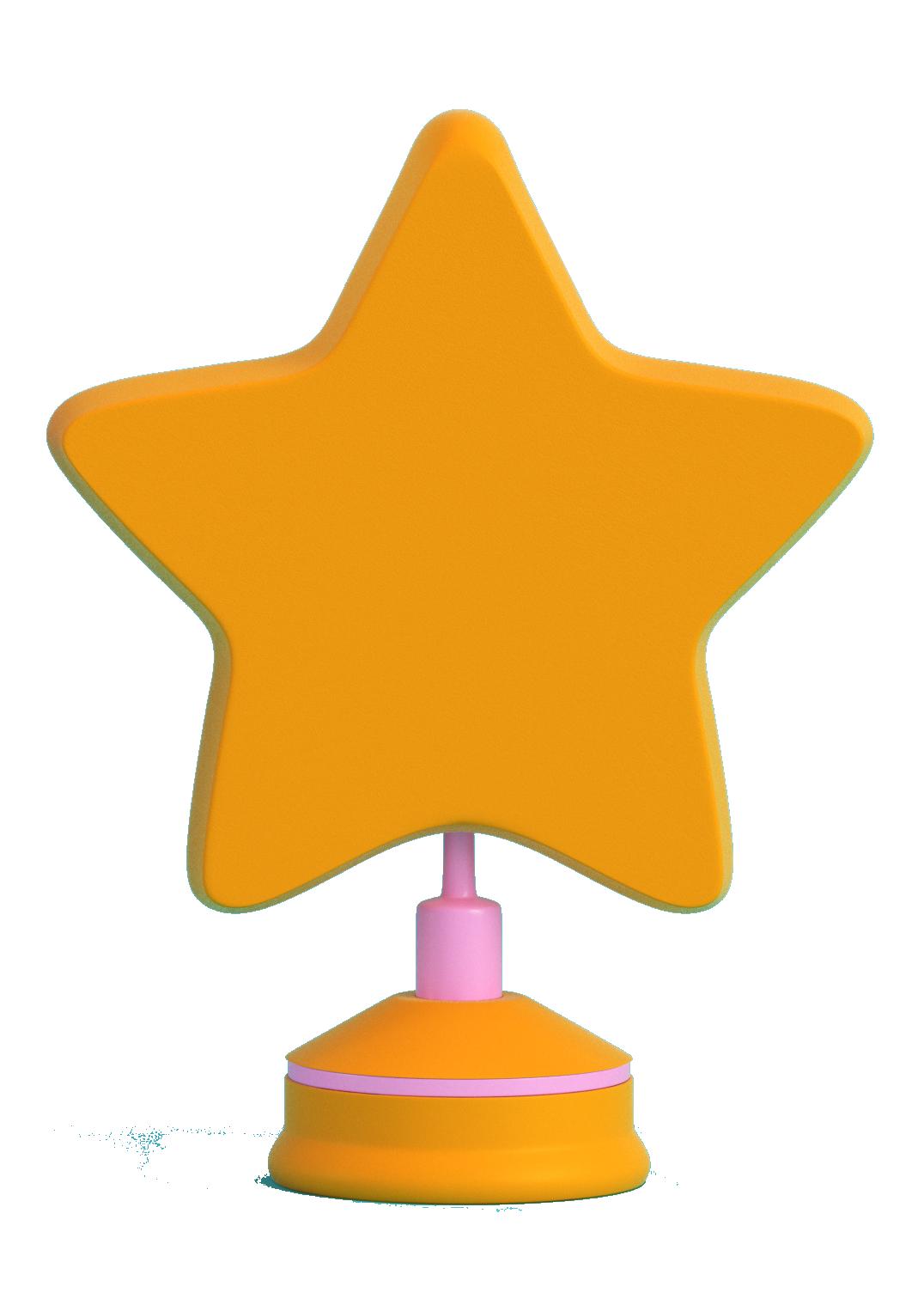 Illustration etoile jaune pour Ingnénierie pédagogique